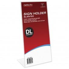 Deflecto DL Slanted Sign Holder