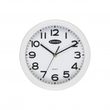 Carven 25cm Round White & Black Clock