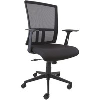 Coogee Mesh Back Chair with Fixed Arms