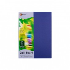 Quill A4 210gsm Royal Blue Board Pkt 50