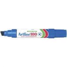 Artline 100 Blue Permanent Marker 12mm Chisel Point
