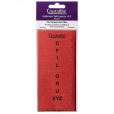 Crystalfile Indicator Tab Inserts A-Z Red Pkt 60