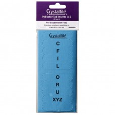 Crystalfile Indicator Tab Inserts A-Z Blue Pkt 60