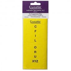 Crystalfile Indicator Tab Inserts A-Z Yellow Pkt 60