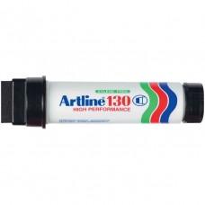 Artline 130 Permanent Black Marker 30mm Wedge Nib Box 6