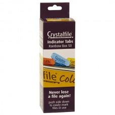 Crystalfile Rainbow Index Tabs Box 50