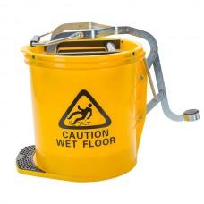 Cleanlink 16L Heavy Duty Wringer Mop Bucket Yellow
