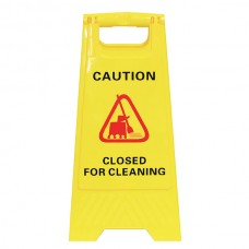 Cleanling Closed For Cleaning Yellow Safety Sign