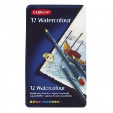 Derwent Watercolour Pencils Tin Of 12