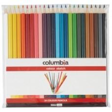 Columbia Coloured Pencil Pkt 24