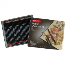 Derwent Academy Pencils Tinted Charcoal Tin 24