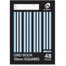 Olympic 225 x 175mm 10mm Grid Book 48 page