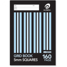 Olympic 225 x 175mm 5mm Grid Book 160 page