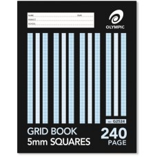 Olympic 225 x 175mm 5mm Grid Book 240 page