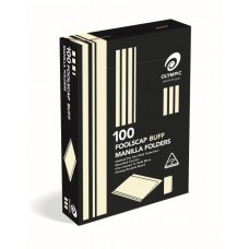 Foolscap Manilla Folders Buff Box 100