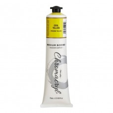 Chromacryl Student Acrylic Paint 75ml Cool Yellow