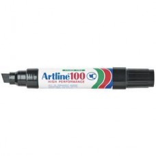Artline 100 Permanent Marker 12mm Chisel Black