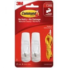 3M Command Medium Hooks 2 Pack