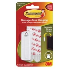 Command Saw Tooth Picture Hanging Hooks