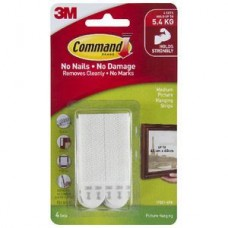 3M Command Picture Hanging Strip 4 Pack