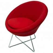 Splash Cone Reception Chair Chrome Base Red
