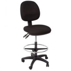 EC070 Drafting Chair Medium Back - Black