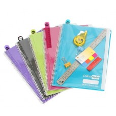 Colourhide My Clear Case Notebook A4 Assorted