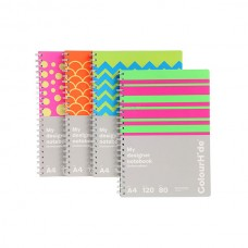 Colourhide A4 Designer Notebook 120 Page