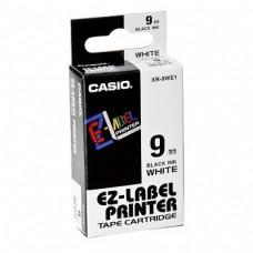 Casio IR-9WE1 Black on White Labeling Tape