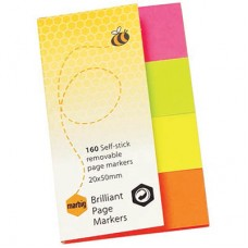 Marbig Brilliant 20 x 50mm Page Marker