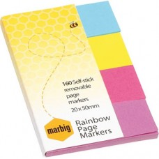 Marbig Rainbow 20 x 50mm Page Marker