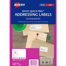 Avery 18up Quick Peel Address Labels Bx100