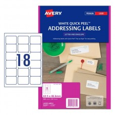 Avery 18up Quick Peel Address Labels Pkt20