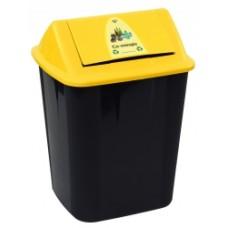Italplast 32 Litre Co-Mingle Waste Separation Bin Yellow Lid