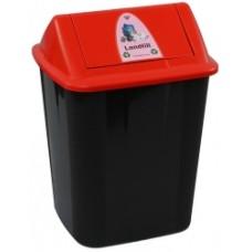 Italplast 32 Litre Waste Separation Bin Landfill Red