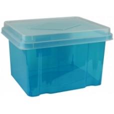 Italplast 32L Blue Storage Box with Lid