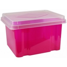 Italplast 32L Pink Storage Box With Lid