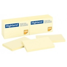 Highland Adhesive Notes 73x123mm Pkt 12