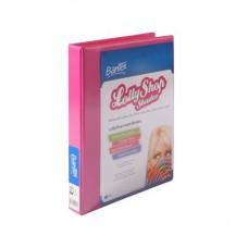 Bantex A4 2D 25mm Musk Stick Pink Lolly Shop Insert Binder