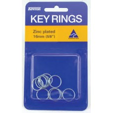 Kevron Key Ring 16mm Zinc Pack 10