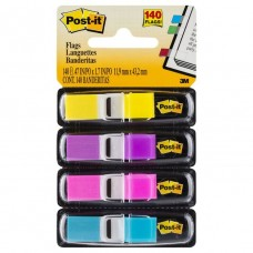 Post It Mini Flags Bight Colours 4 Pack