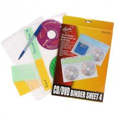 Aurora CD/DVD A4 Binder Sheet Pkt 10