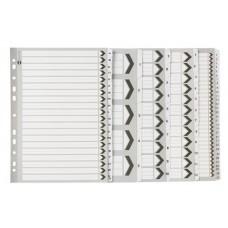 Marbig A4 1-10 Tab Black & White Board Dividers