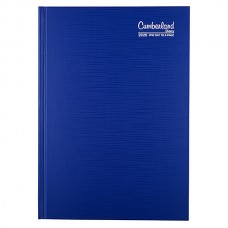 Cumberland Premium Bound A4 Diary 2 Days To A Page Blue