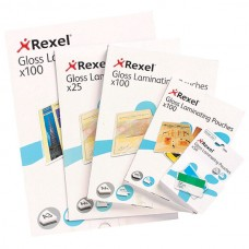 Rexel Laminating Pouch 54x86mm 125 micron Pkt 50