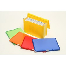Beautone Blue Pocket File with 85mm Gusset