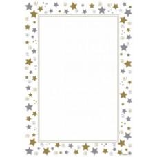 Geo Stars & Swirls A4 Certificate Paper Pkt 15