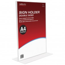 Deflect O A4 Double-sided T-Shape Sign Holder