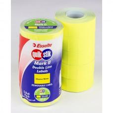 QuikStik Mark II Fluro Yellow Label Pkt 5