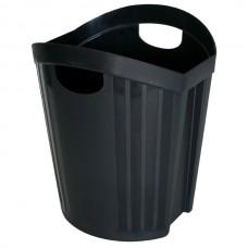 Esselte Nouveau Black Waste Bin